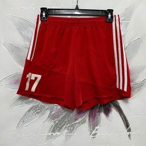 Adidas Shorts Red & White 3 Stripes Size S